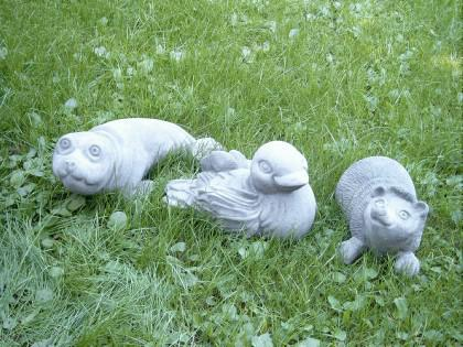 Gartenfigur Seehund aus Graphiksten - Vorschau 3