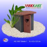 WC Toilettenhäuschen - Dekoration für Aquarium & Terrarium