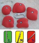 Klettergriffe Größe XL Set Corvatsch 5-teilig