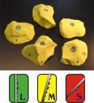 Klettergriffe Größe XL Set Klammspitze 5-teilig