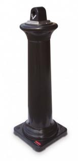 RUBBERMAID GroundsKeeper(TM) Tuscan Standascher Schwarz aus Polyethylen / Stahl