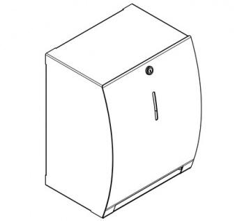 Franke manuell betriebener Papierhandtuchspender zur Aufputzmontage STRX637