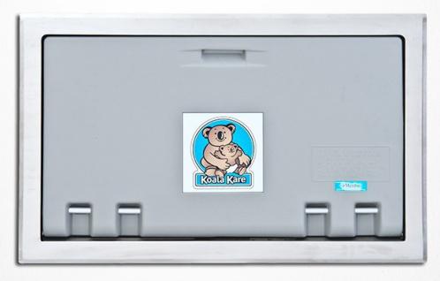 Koala horizontale Wickelstation Grau KB100-ST Edelstahlverkleidung für Unterputz