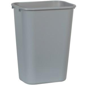 RUBBERMAID rechteckiger Papierkorb 39 l in Grau oder Schwarz aus Kunststoff - Vorschau 2