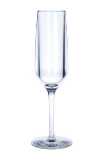 Mehrweg Champagnerglas 0, 1l PC aus Kunststoff