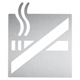 Wagner-EWAR Piktogramm Nichtraucher AC440 Edelstahl matt geschliffen