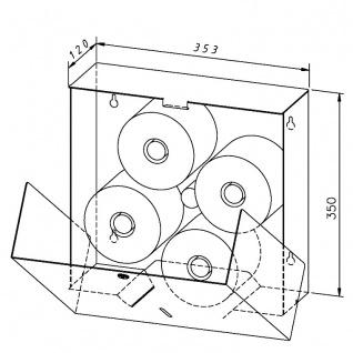 Wagner-EWAR Toilettenpapierhalter 4 Rollen WP163-S Edelstahl für Aufputzmontage - Vorschau 2