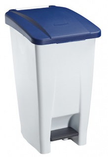 Rossignol fahrbarer Abfallbehälter mit Pedal 60L aus Polyethylen-Kunststoff - Vorschau 4