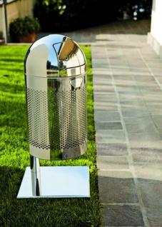 Graepel High Tech Indoor oder Outdoor Abfalleimer Outpush Maxi P aus Edelstahl