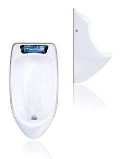 URIMAT ecovideo Wasserloses Urinal in weiß mit Videodisplay - Vorschau 2