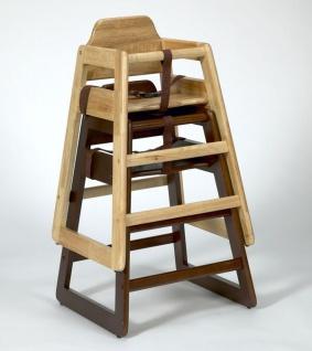 Stapelbare Kinder Hochstuhl Holz - in Natur und Walnuss - Vorschau 2