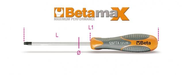 Beta Stiftschlüssel mit Griff, für Torx®-Schrauben 1297TX