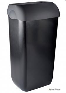 Metzger Abfallbehälter 25 Liter zur Wandmontage - in weiß, schwarz oder silber
