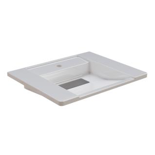 Franke EXOS. Einzelwaschtisch - Standard aus kunstharzgebundenem Mineralwerkstoff MIRANIT 600 mm breit