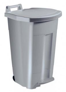 Rossignol Boogy fahrbarer Treteimer 90 Liter mit Trittpedal und Transportgriff