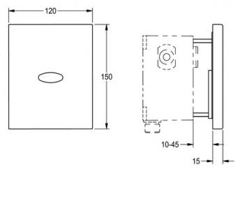 Franke Fertigbauset zur opto-elektronisch gesteuerten Urinalspülarmatur DN 15 - Vorschau 2