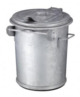 Stahlverzinkter Abfallbehälter 70 Liter