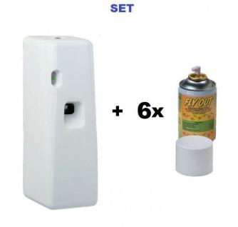 SET Spray Spender Maxi MF Insekten Sprayspender + 6x Insektizid Insekten Aerosol Fly Out 250ml