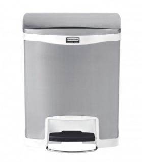 RUBBERMAID Slim Jim® Metall-Tretabfallbehälter mit Pedal an der Breitseite 30 L - Vorschau 3