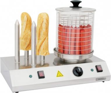 Casselin elektrische Hot-Dog-Maschine aus Edelstahl 960 Watt mit 4 Brotwärmern