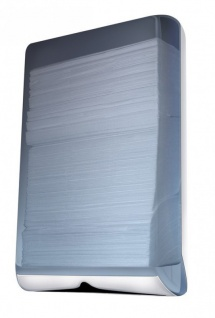 Marplast Handtuchspender MP 788 aus Kunststoff in Weiß/Transparent Wandmontage