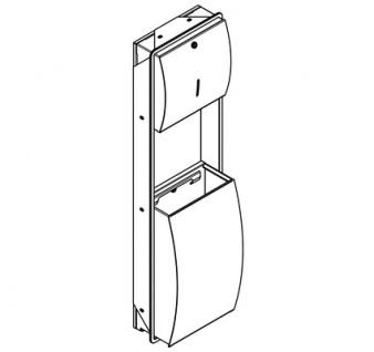 Franke Papierhandtuch- und Abfallbehälter Kombination aus Edelstahl - Vorschau 2