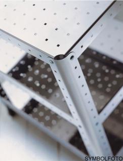 Graepel G-Line Pro Regal Quadra S - TV HI-FI aus poliertem Edelstahl 1.4016 mit Räder - Vorschau 2