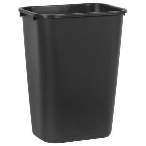 RUBBERMAID rechteckiger Papierkorb 39 l in Grau oder Schwarz aus Kunststoff