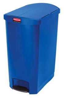 RUBBERMAID Slim Jim® Kunststoff-Tretabfallbehälter mit Pedal an der Schmalseite 90 L - Vorschau 1