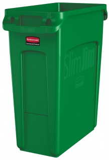 Slim Jim mit Luftschlitze 60 Liter, Rubbermaid