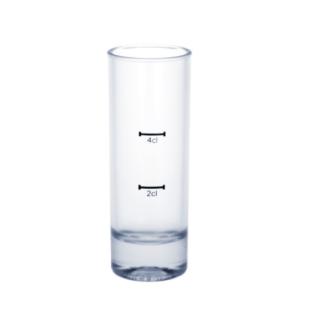 12er Set Kunststoff Stamperl hoch gefrostet 2cl /4cl SAN wiederverwendbar
