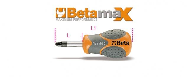 Beta Schraubendreher für Pozidriv®- und Supadriv®-Schrauben, extrakurze Ausführung 1299N/PZ