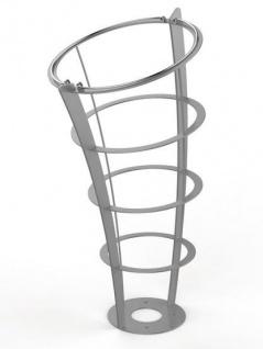 Rossignol Elice Extreme Abfallkorb mit Standfuss 65L aus feuerverzinktem Stahl