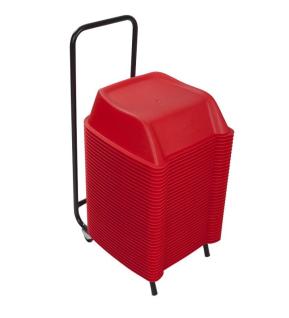 SET 36 Stk. Kunststoff PVC stabile Cinema Seat Sitzerhöhungen für Kinder in rot