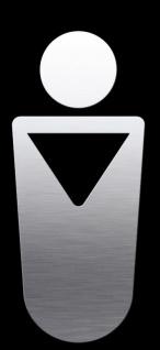"""Proox® ONE pure PU-810 Edelstahl Piktogramm """" Herren-WC"""" für Tür selbstklebend"""
