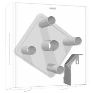 Franke EXOS. Umrüstung von WC-Grossrollenhalter auf WC-Vierfachrollenhalter