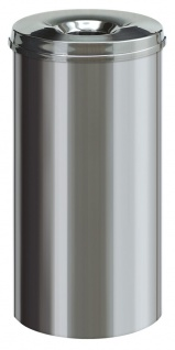 Feuerlöschender Papierkorb Edelstahl 50 Liter