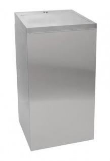 Franke Chromnickelstahl Abfallbehälter 30L mit selbstschließendem Klappdeckel