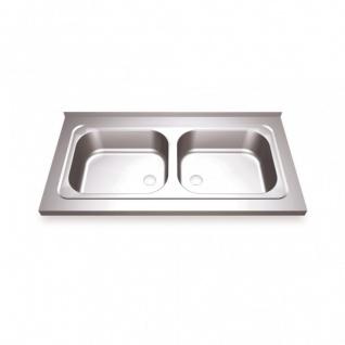 Simex doppelte Großküchenspüle mit Rahmen aus Edelstahl - erhältlich in 4 Größen