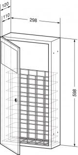 Wagner-EWAR Abfallbehälter 11l WP134 Edelstahl für Unterputzmontage - Vorschau 2