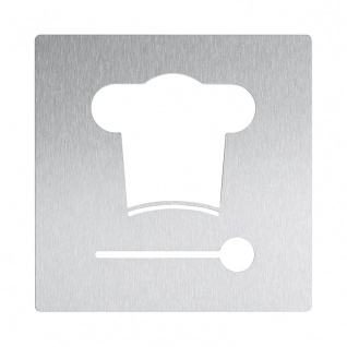 Wagner-EWAR Piktogramm Küche AC490 Edelstahl matt geschliffen