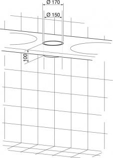 Wagner-EWAR Einwurfring DM150x100 WP159 Edelstahl für Tischmontage - Vorschau 2