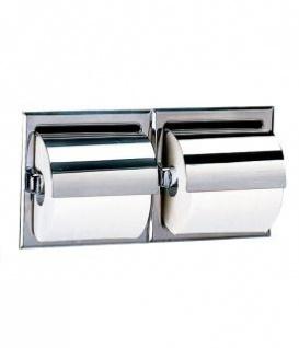 Bobrick B-699/7 Toilettenpapierhalter mit Haube für zwei Rollen aus Edelstahl