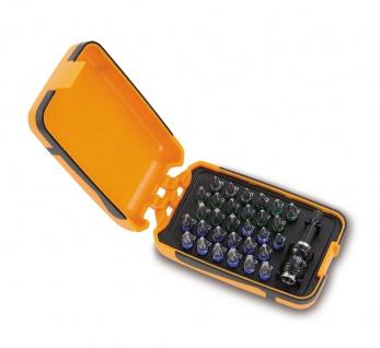 Beta Sortiment mit 30 Schraubeinsätzen und magnetischer, schnellauslösender Schraubeinsatzhalter, im Kunststoffkasten 860PHZ/A31