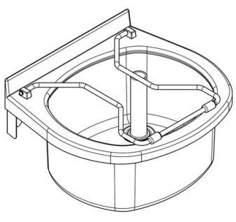 Franke Wandausgussbecken aus Chromnickelstahl 18/10 mit grauem Kunststoffrahmen - Vorschau 2