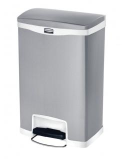 RUBBERMAID Slim Jim® Metall-Tretabfallbehälter mit Pedal an der Breitseite 50 L - Vorschau 3