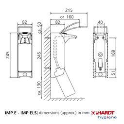 Ophardt ingo-man® plus 1418093 Signalfarben Seifen- Desinfektionsmittelspender 1 Liter - Vorschau 3