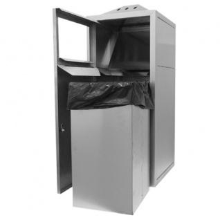 Hochwertiger Kombinierter Aussenaschenbecher/Mülleimer - Vorschau 3