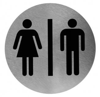 Mediclinics Edelstahl Piktogramm rund Mann & Frau zur Wandmontage