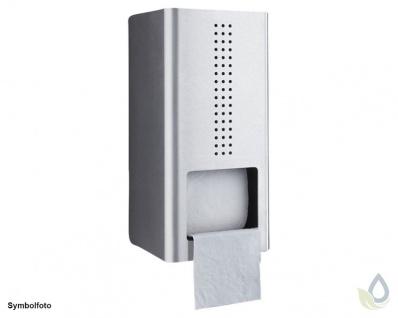 Proox® ONE pure PU-300 Doppelter WC-Rollenhalter aus Edelstahl gebürstet